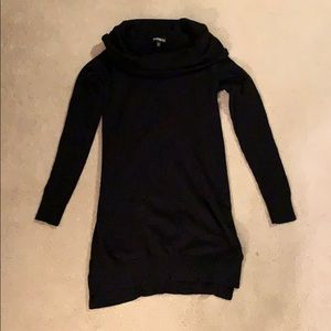 Express black cowl neck long sweater, XS